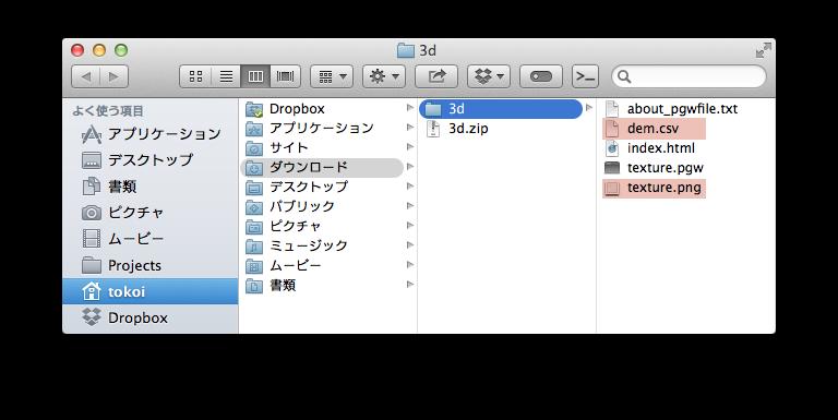 ZIP ファイルの中身