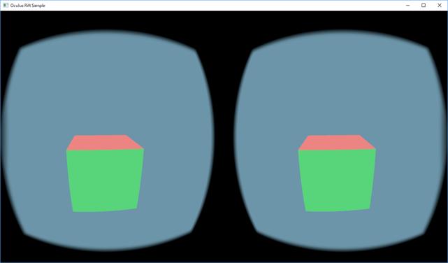 Oculus Rift への表示